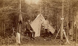 John Dunn and his party of hunters built Camp ...