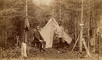 Moosehead Lake - Hunters at Camp Russell, northeast of Moosehead Lake, 1888