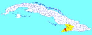 Campechuela - Image: Campechuela (Cuban municipal map)