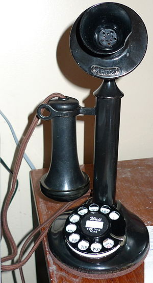Telecommunications policy of the United States - Candlestick phone