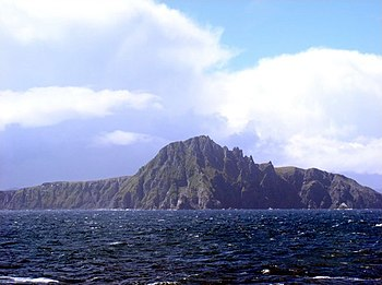 Cape Horn seen from the sea