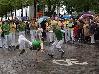 Capoeira - A capoeira demonstration at the Helsinki Samba Carnaval in Finland.