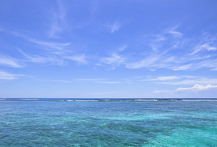 The crystallyne waters of the Caribbean Sea, on a sunny day. Photo taken in Morrocoy national park, Venezuela.