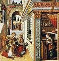 Carlo Crivelli Annunciation with St Emidius 1486 London (cropped).jpg