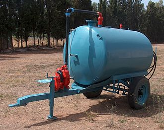 Agricultural productivity - A liquid manure spreader.