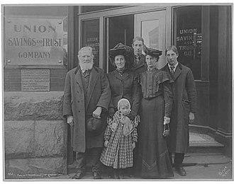 Carson Boren - Image: Carson D Boren and descendents beside the tablet memorializing him, Seattle, November 13, 1905 (PEISER 123)