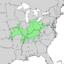 Carya laciniosa range map 1.png
