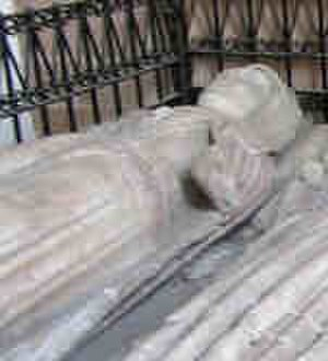 Cecily Bonville, 7th Baroness Harington - Presumed, partially damaged effigy of Cecily Bonville on her tomb in the Church of St. Mary the Virgin, Astley, Warwickshire
