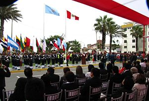 Víctor Larco Herrera District - Civic celebration ceremony in the main square of Vista Alegre