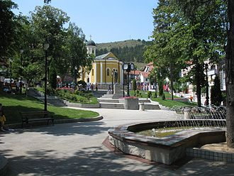 Raška, Serbia - Town center square