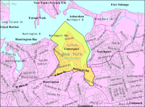 Centerport, New York - Image: Centerport ny map