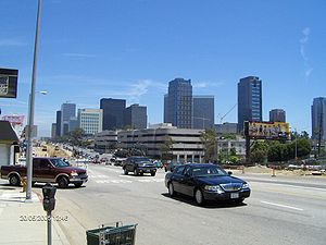 California State Route 2 - Santa Monica Boulevard at Century City