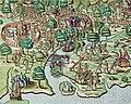 Cerco a Igarassu, gravura de Theodor de Bry - Staden, Duas Viagens ao Brasil, 1557.jpg