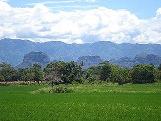 Ortega, Tolima - View of the Cerros los Abechuchos in Ortega