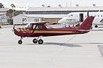 Cessna 150L Commuter (VH-JWU) taxiing at Wagga Wagga Airport.jpg