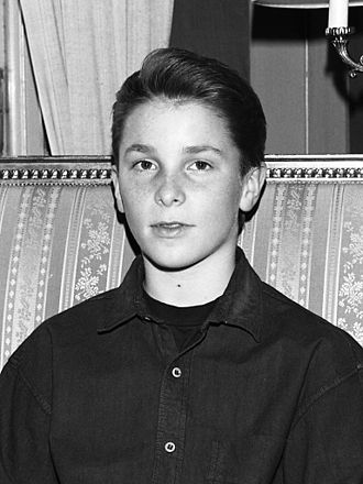 Christian Bale - A 14-year-old Bale in Stockholm, Sweden in February 1988 while promoting Empire of the Sun
