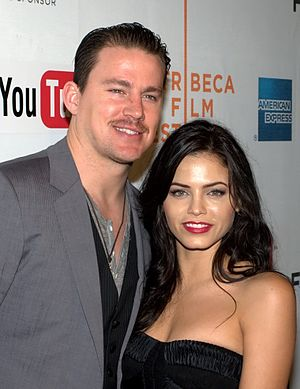 English: Channing Tatum and Jenna Dewan at Tri...