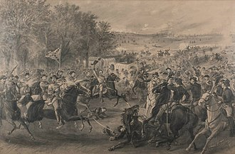 Battle of Trevilian Station - Image: Charge of the Confederate cavalry at Trevilian Station, Virginia, by James E. Taylor, 1891