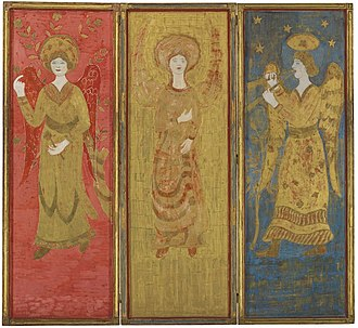 Charles Prendergast - Image: Charles Prendergast Three Panel Screen (back)