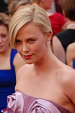 Photo of actress Charlize Theron attending the 82nd Academy Awards in 2010.