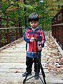 Checking out Dad's Tripod (1594365412).jpg