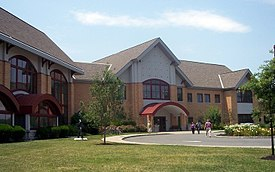 The Cherry Hill Public Library, one of the largest in New Jersey, at 72,000 square feet (6,700 m2)