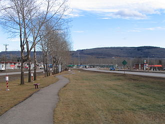 Chetwynd, British Columbia - Looking east along Highway 97