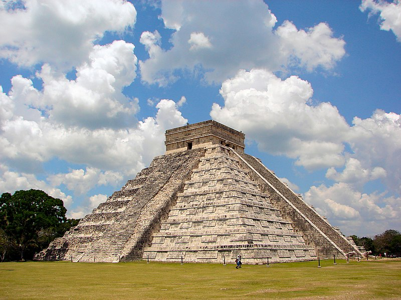 Chichen Itza Castillo Seen From East, one of the 7 new world wonders