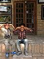 Children in Ribat-i-Abbasi of Nishapur (Hossein - Ali - Fatemeh - Hengameh and another girl - probably Afghani) 07.jpg