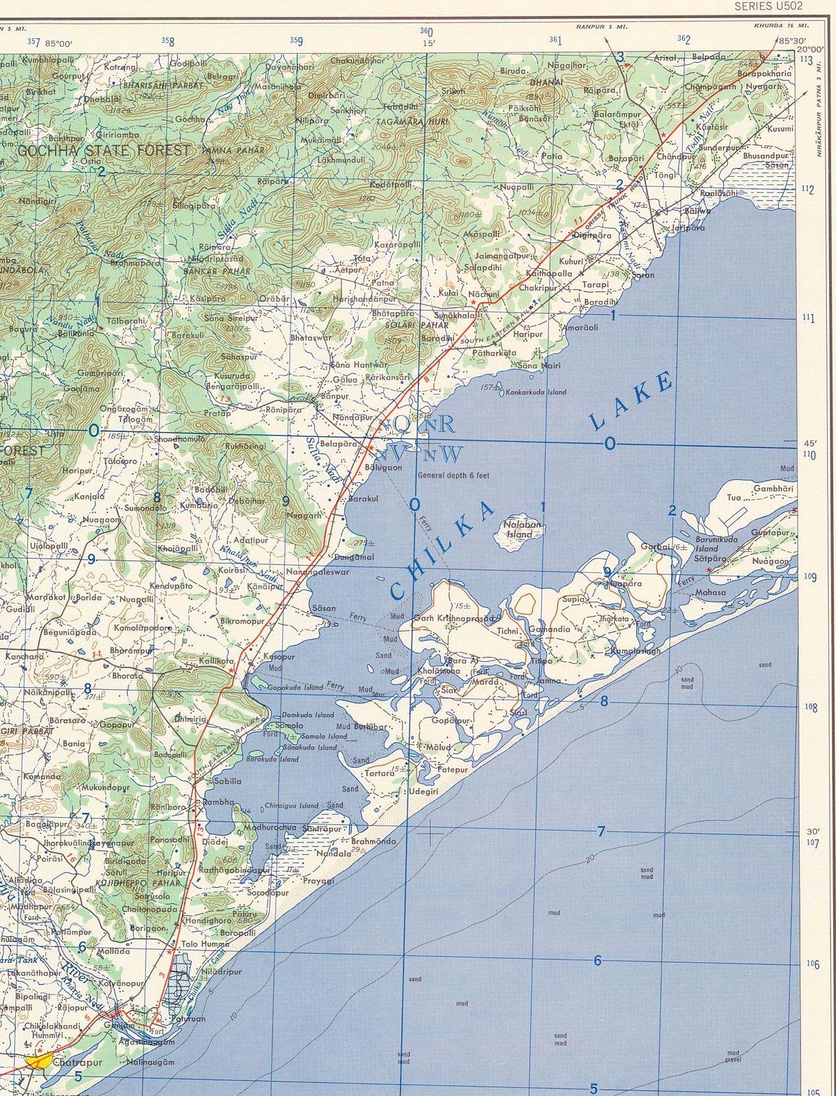 Geography of Odisha  Wikipedia