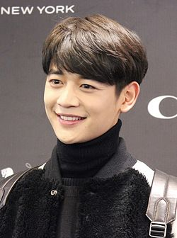"Choi Min-ho at ""Coach"" event in Busan, in November 2015 01.jpg"