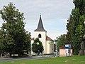 Chotěšov (okres Litoměřice), pohled na kostel Nanebevzetí Panny Marie.JPG