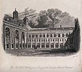 Christ's Hospital, London; the exterior of the Hall. Engravi Wellcome V0013052.jpg