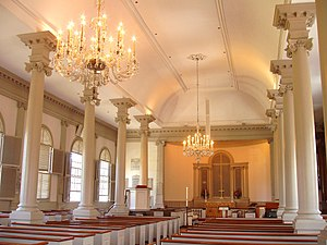 Christ Church (Cambridge, Massachusetts) - Image: Christ Church, Cambridge, MA interior
