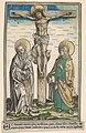 Christ on the Cross with the Virgin and Saint John, from the Passau Missal (Missale Pataviense) MET DP833981.jpg