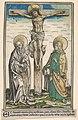 Christ on the Cross with the Virgin and Saint John, from the Passau Missal (Missale Pataviense) MET DP833981.jpg