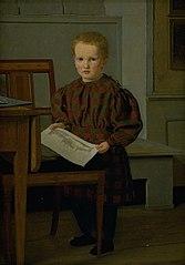 The Painter C.W. Eckersberg's Son Julius in his Fathers Studio