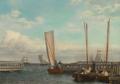 Christoffer Wilhelm Eckersberg - Lodserne i Dragør havn - 1830.png