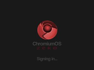 Chromium OS - Image: Chromium OS Zero login screen