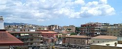 Top-view of Ciampino downtown