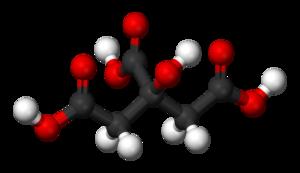 Citric acid - Image: Citric acid 3D balls