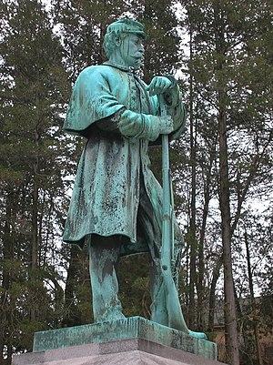 Springfield Cemetery (Springfield, Massachusetts) - Image: Civil War Soldier Monument, Springfield Cemetery, Springfield, MA January 2016