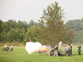 The Amazing Race 8 - The Detours on this leg featured tasks about the American Civil War (the pictured reenactment is in Danville, Illinois)