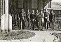 Civilian Conservation Corps men standing outside headquarters (3554417881).jpg