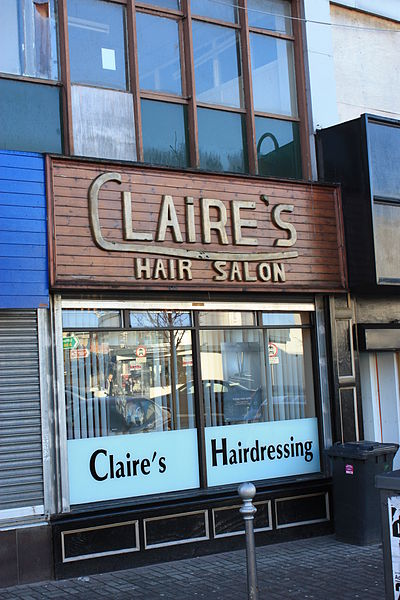 File:Claires Hair Salon, Stranbane, January 2010.JPG