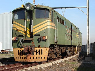South African Class 5E, Series 3 - No. E564, incorrectly numbered as Series 1 no. E263 in preservation, Bellville, 4 July 2017