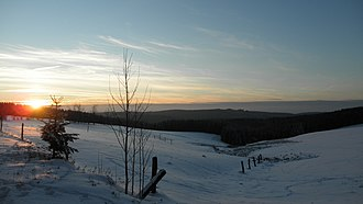 Upper Harz - Clausthal plateau in winter