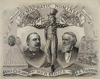 Allen G. Thurman - Cleveland/Thurman campaign poster