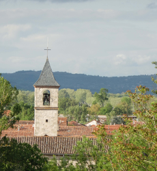 The church tower in Vielmur-sur-Agout
