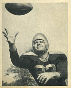 Clyde Goodnight - Goodnight on a 1948 Bowman football card